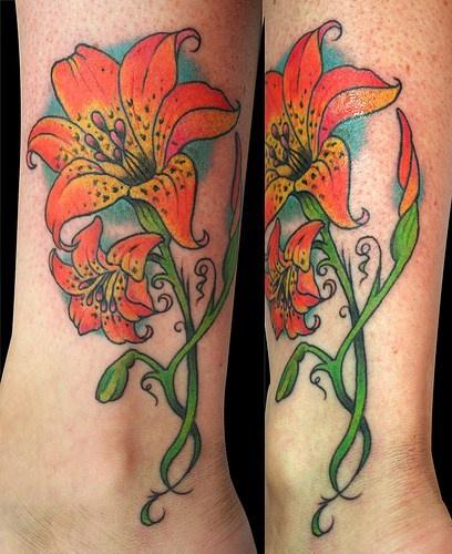 Lush Stargazer Lily Tattoo Tattooimages Biz